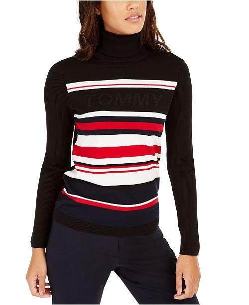 Tommy Hilfiger Striped Turtleneck Sweater