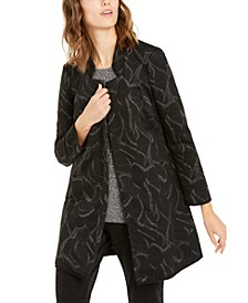 Metallic-Print Jacquard Topper Jacket, Created For Macy's