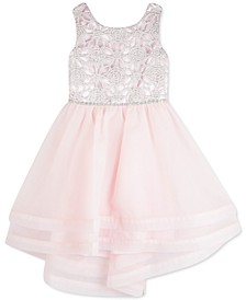 Little Girls Embroidered High-Low Dress