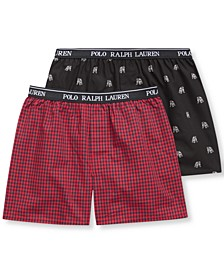 Little & Big Boys 2-Pk. Cotton Boxer Shorts