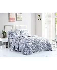 Mauer Matelasse 3PC Full/Queen Quilt Set