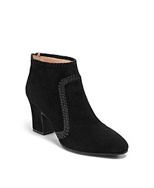 Gemma Suede Heeled Booties