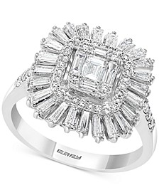 EFFY® Diamond Baguette Cluster Statement Ring (1-1/20 ct. t.w.) in 14k White Gold
