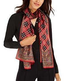 Nina Plaid Silk Oblong Scarf