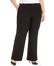 Plus Size Stretch Crepe Wide-Leg Pants