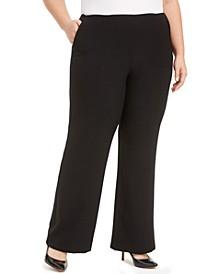 Plus Size Stretch Crepe Wide-Leg Pants
