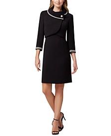 Portrait-Collar Jacket & Dress Suit