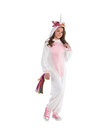 Big Girls Zipster Unicorn Costume