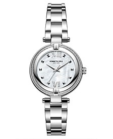 Women's Silver-Tone Stainless Steel Bracelet Watch, 32mm