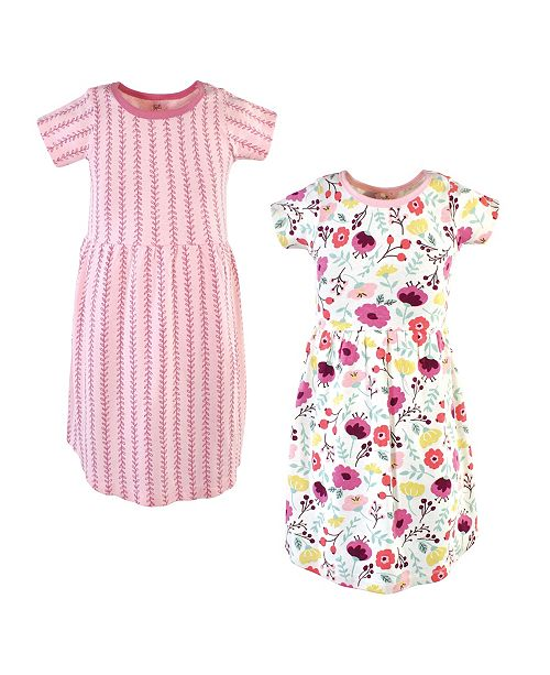 Touched by Nature Little Girl Organic Dress 2 Pack