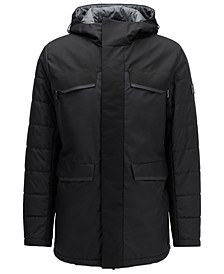 BOSS Men's Water-Repellent Parka Jacket