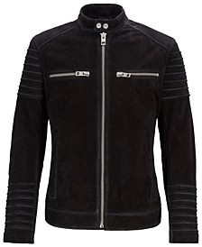 BOSS Men's Slim-Fit Biker Jacket