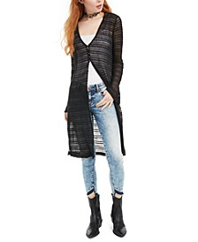 Juniors' Crochet-Trimmed Cardigan Sweater, Created for Macy's