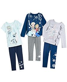 Disney® Little Girls 2-Pc. Frozen Top & Leggings Sets