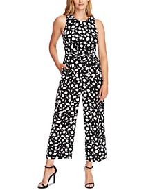Sleeveless Printed Cropped Jumpsuit