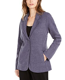 Notch Collar Shaped Jacket