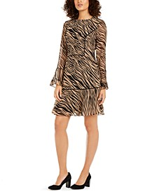Tiered Zebra Print Dress