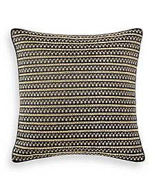 "Linear Chevron 18"" x 18"" Decorative Pillow, Created for Macy's"