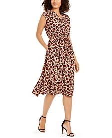 Printed Sleeveless Midi-Dress