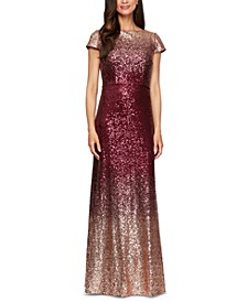 Ombré Sequin Gown