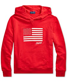 Little Boys Embroidered Terry Cotton Hoodie, Created For Macy's