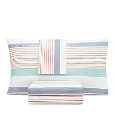 Kids Preppy Stripe Full Sheet Set