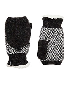 Women's Recycled Yarn Knit Flip-Top Mittens