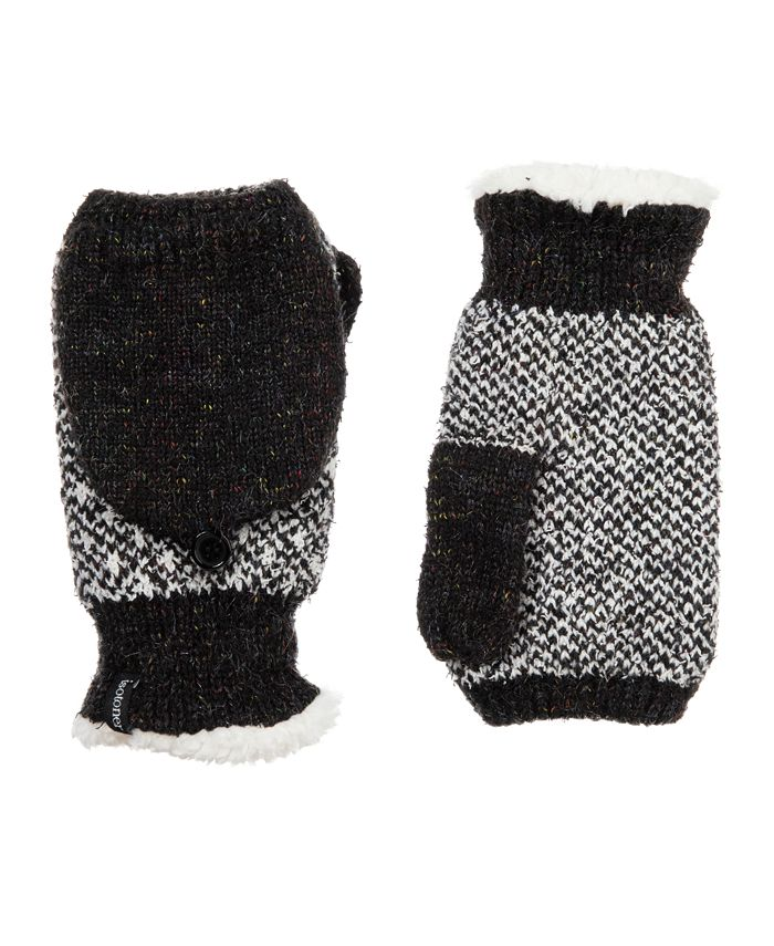 Isotoner Signature - isotoner Women's Knit Flip-Top Gloves made with Recycled Yarn