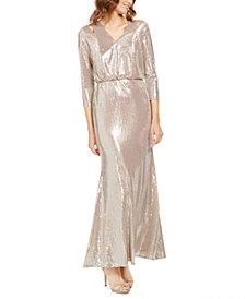Calvin Klein Sequined Cutout Gown
