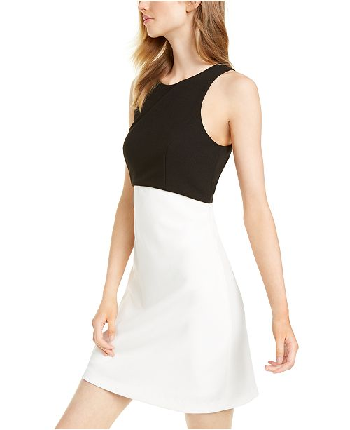Betsey Johnson Petite Colorblocked A-Line Dress