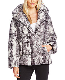 Vince Camuto Printed Puffer Jacket