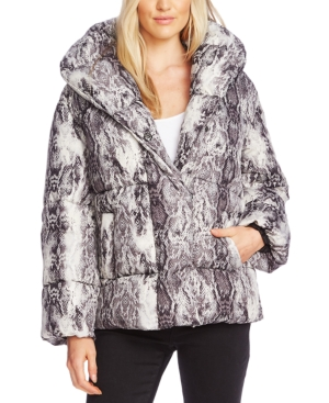 Vince Camuto Jackets PRINTED PUFFER JACKET