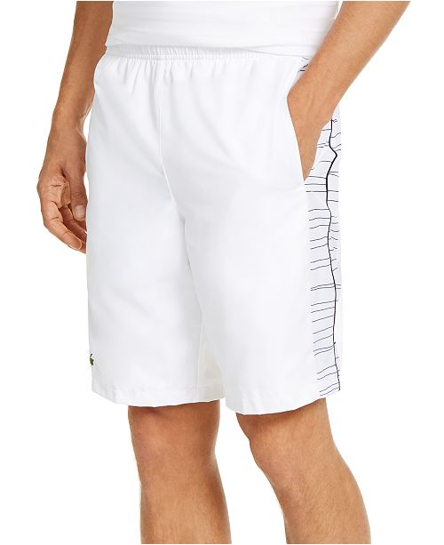 Lacoste Men's Relaxed-Fit Side Printed Panel Sport Shorts