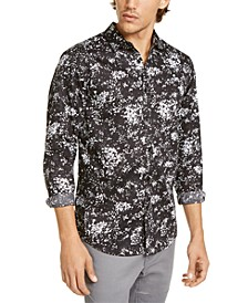 INC Men's Big & Tall Paint Splatter-Print Shirt, Created For Macy's