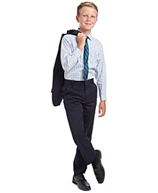 Big Boys 2-Pc. Regular-Fit Plaid Dress Shirt & Stripe Tie Set, Alexander Blazer & Alexander Dress Pants