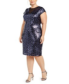 Trendy Plus Size Sequin Dress