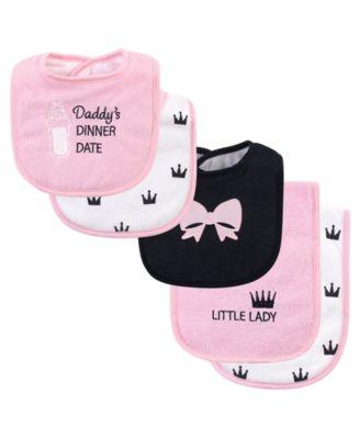 Hudson Baby Baby Bib and Burp Cloth Set
