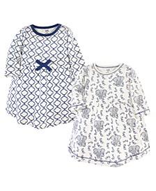 Baby Girl Long Sleeve Organic Dress 2 Pack