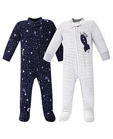Baby Girl and Boy Fleece Sleep and Play 2 Pack