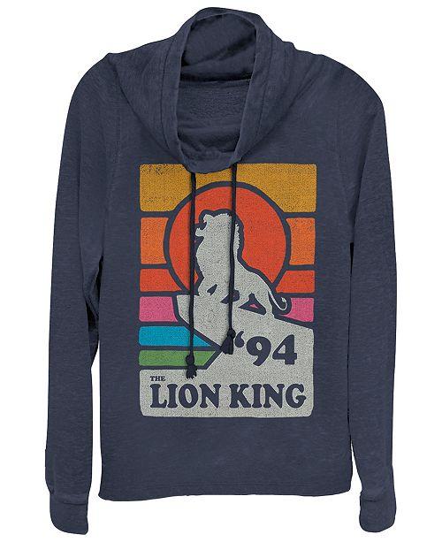Disney Juniors' Lion King Vintage-like Pride Cowl Neck Sweatshrit