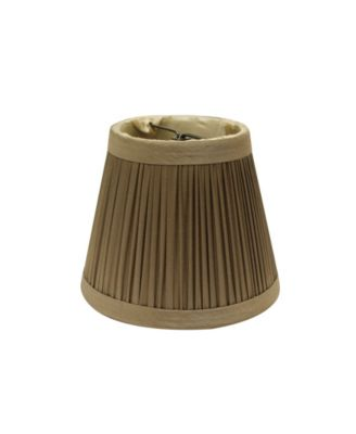 Slant Pencil Pleat Chandelier Lampshade with Flame Clip