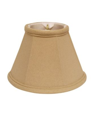 Slant Linen Chandelier Lampshade with Flame Clip