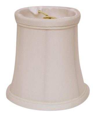 Slant Tissue Shantung Chandelier Lampshade with Flame Clip