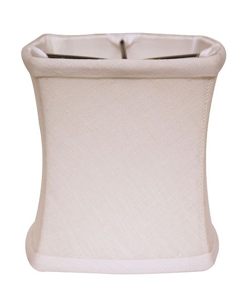 Cloth&Wire Slant Fancy Square Softback Lampshade with Bulb Clip