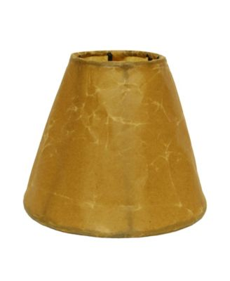 Slant Crinkle Paper Empire Chandelier Lampshade with Flame Clip