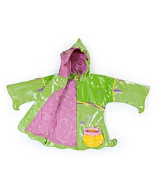 Little Girl with Comfy Polyester Lining Fairy Raincoat