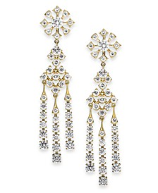 18k Gold-Plated Crystal Chandelier Earrings, Created for Macy's