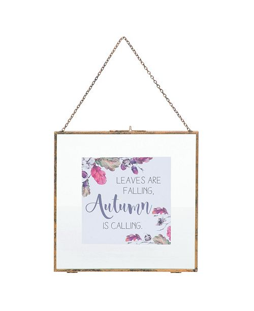 Trans Pac Glass Small White Harvest Wall Art