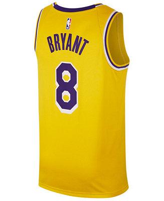 Nike Men's Kobe Bryant Los Angeles Lakers Icon Swingman Jersey ...