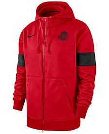 Men's Ohio State Buckeyes Therma Sideline Hooded Full-Zip Jacket